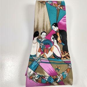 Vintage Farracci Putting on the Ritz silk tie